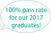 100% pass rate for our 2017 graduates!